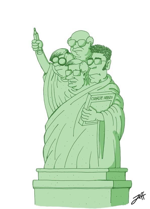 la statue de la liberté d'expression